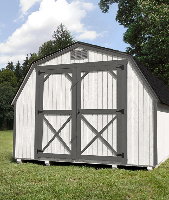 Barn Painted - Yoder's Portable Buildings Indiana