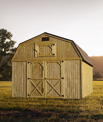 Lofted Barn Wooden - Yoder's Portable Buildings Indiana