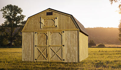 Yoder's Portable Buildings Lofted Barn