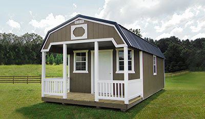 Yoder's Portable Buildings Lofted Cabin