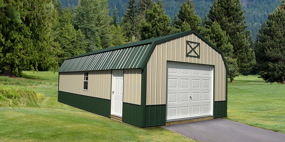Lofted Garage Metal - Yoder's Portable Buildings Indiana