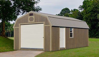 Yoder's Portable Buildings Lofted Garage