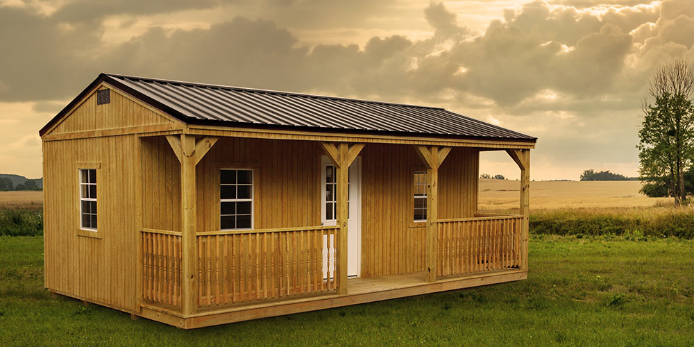 Side Lofted Barn Wooded - Yoder's Portable Buildings Indiana