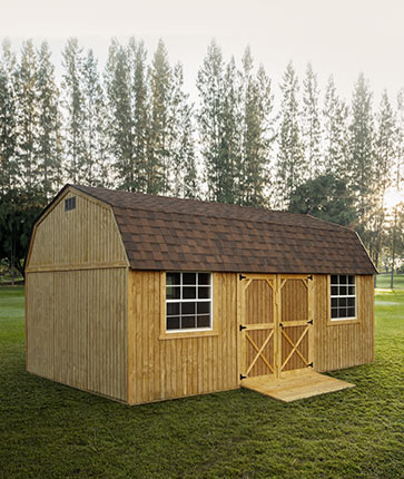 Side Lofted Barn Wooden - Yoder's Portable Buildings Indiana