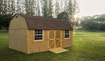 Yoder's Portable Buildings Side Lofted Barn