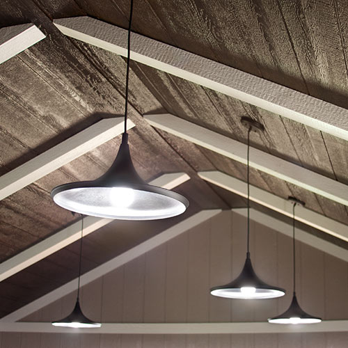 Hanging Ceiling Lights - Yoder's Portable Buildings