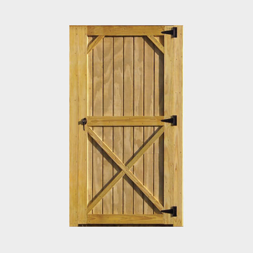 Treated Wood Door - Yoder's Portable Buildings