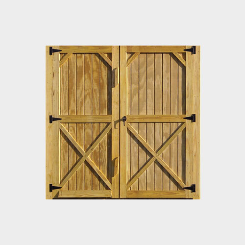 Treated Wood Double Doors - Yoder's Portable Buildings