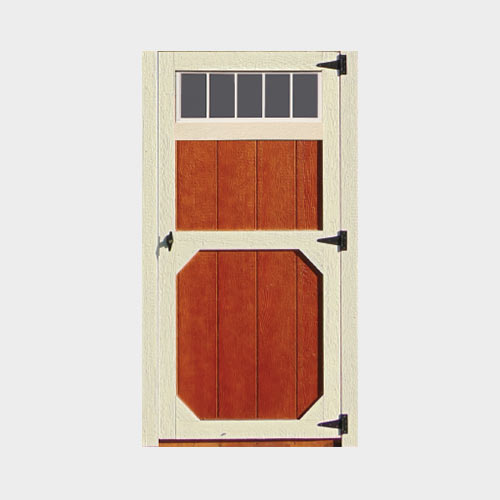 Wood Door W/Transom Window - Yoder's Portable Buildings