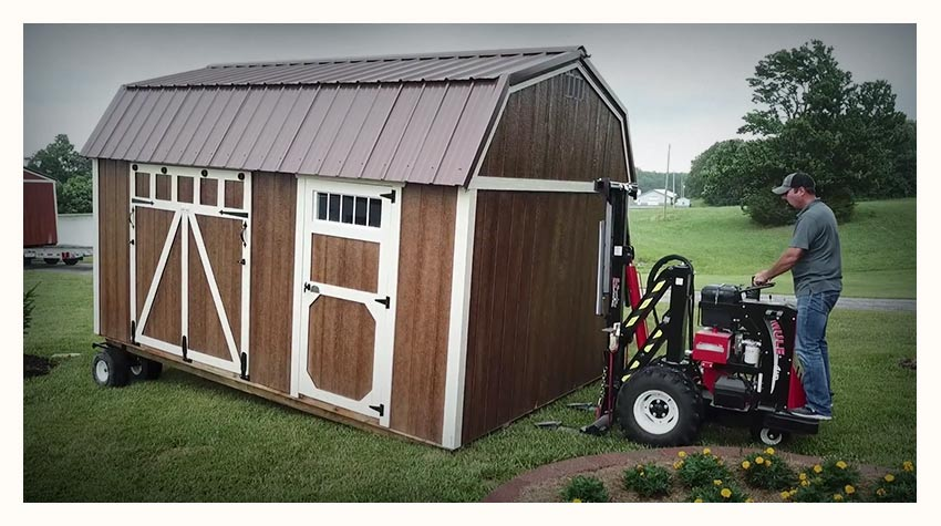 Yoder's Portable Buildings Delivery